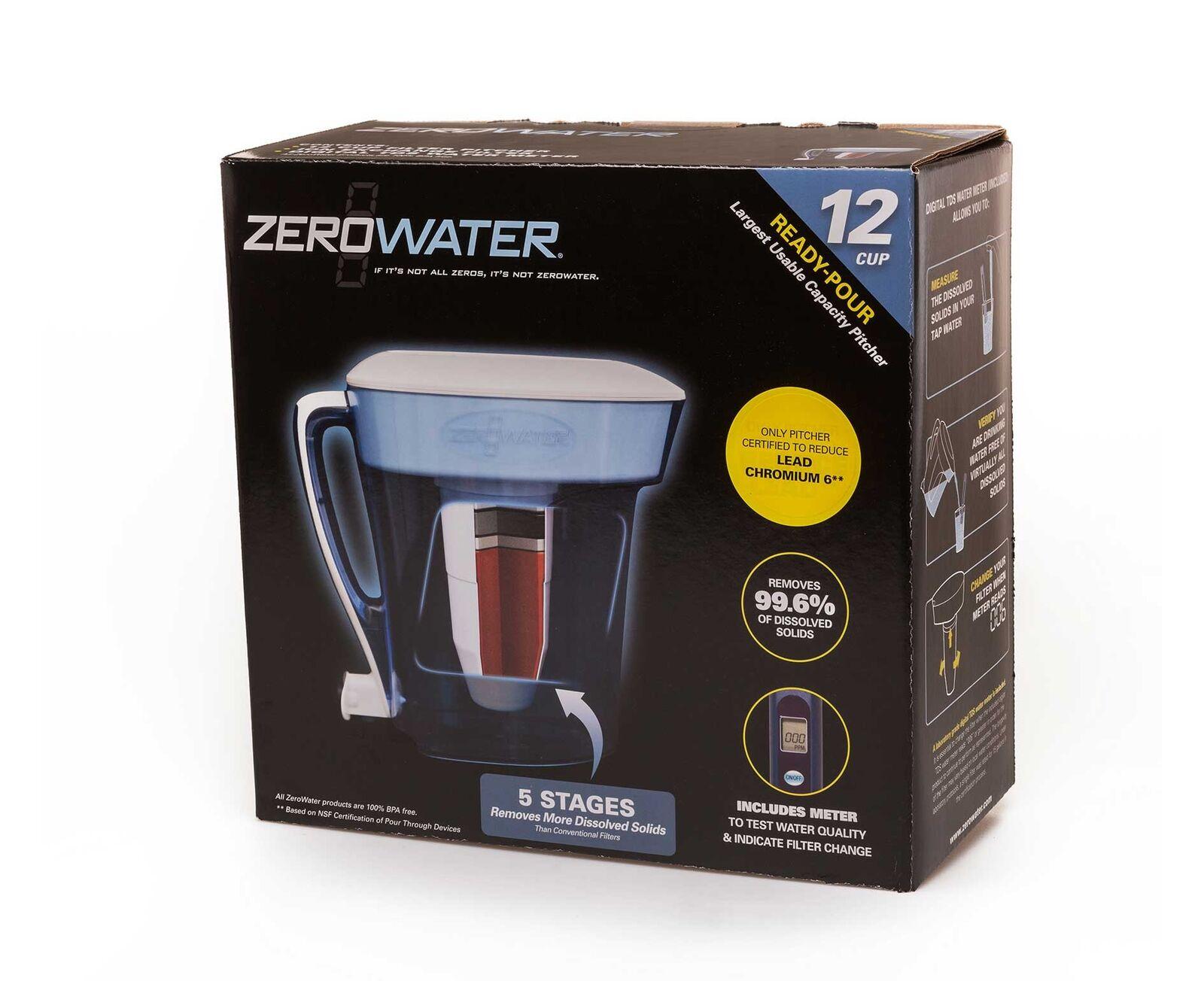 ZeroWater 12 Cup Water Filter Jug - Blue | eBay