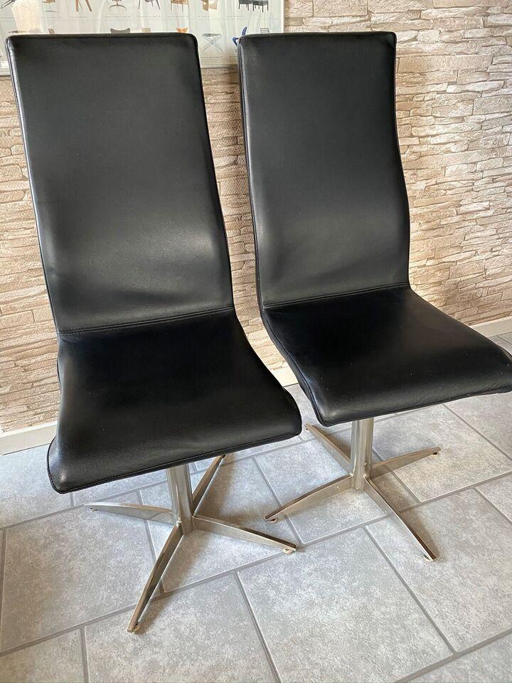 Spisebordsstol, Ægte læder