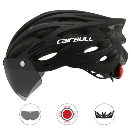 Cycling Helmet Ultralight Removable Visor Goggles Taillight Bike Roads MTB Sport