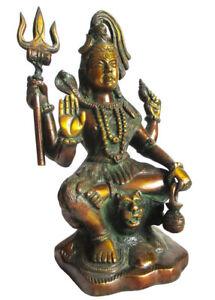 SHIVA-Statue-Messing-Hinduismus-H-22-cm-Schiwa-Shiwa-Schiwa-Saddhu-Brass-2-25-kg