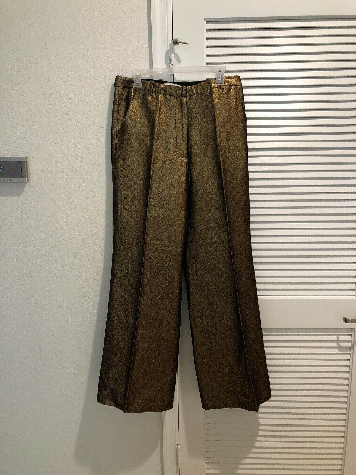 PHILLIP PLEIN  gold PANTS With SILK Lining Size 10