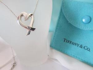 Tiffany co paloma picasso loving heart diamond necklacependant image is loading tiffany amp co paloma picasso loving heart diamond aloadofball Image collections