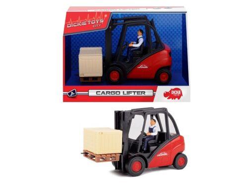 Dickie 203742005 - Toys City - Cargo Lifter / Gabelstapler - Rot (Ca. 15cm)