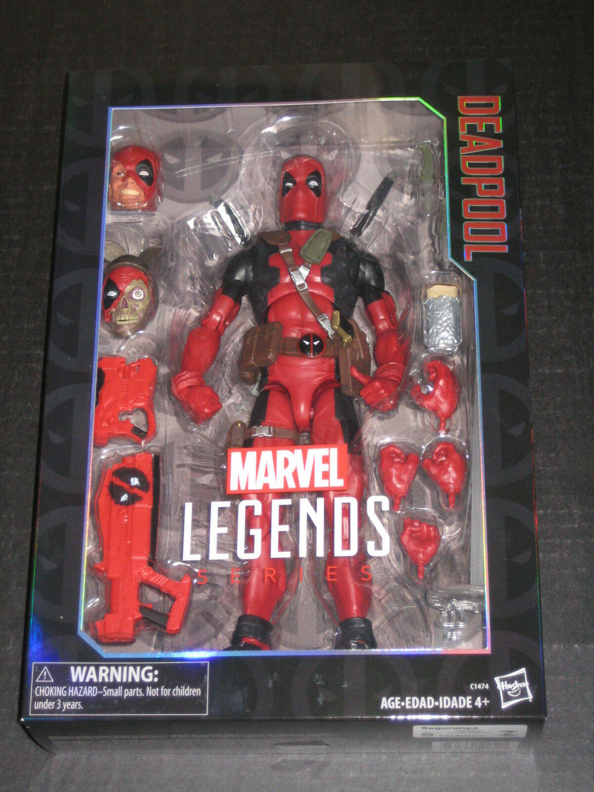 MARVEL LEGENDS 12 INCH DEADPOOL FIGURE HANDS HEADS ACCESSORIES WADE MERC W MOUTH