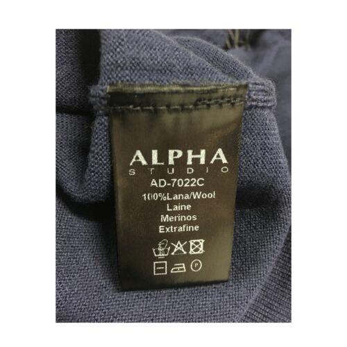 Mod 7022c Studio Alpha Col Pull Roulé 100 Ad Laine Bleu Tampon Femme zA0wqA