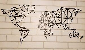 Arredo mappamondo planisfero stilizzato da parete muro in for Mappamondo da arredo