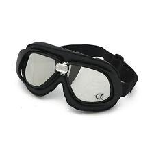 BANDIT Classic Goggle, Specchio Lente, moto occhiali, cuoio, Black, per jethelme
