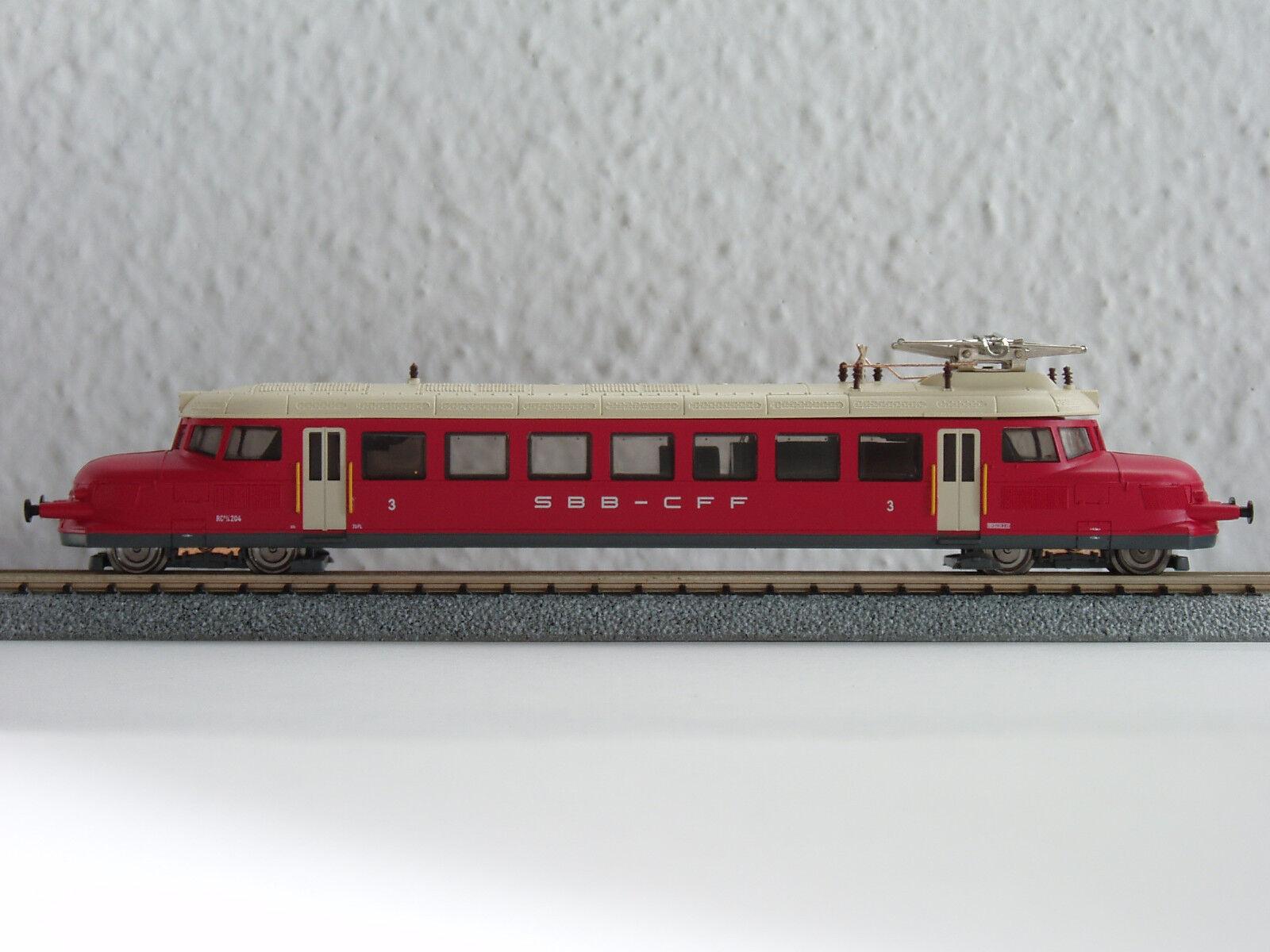 SBB tren 2 4 204  himbeerrojo  Hobbytrain h2643 (2163)
