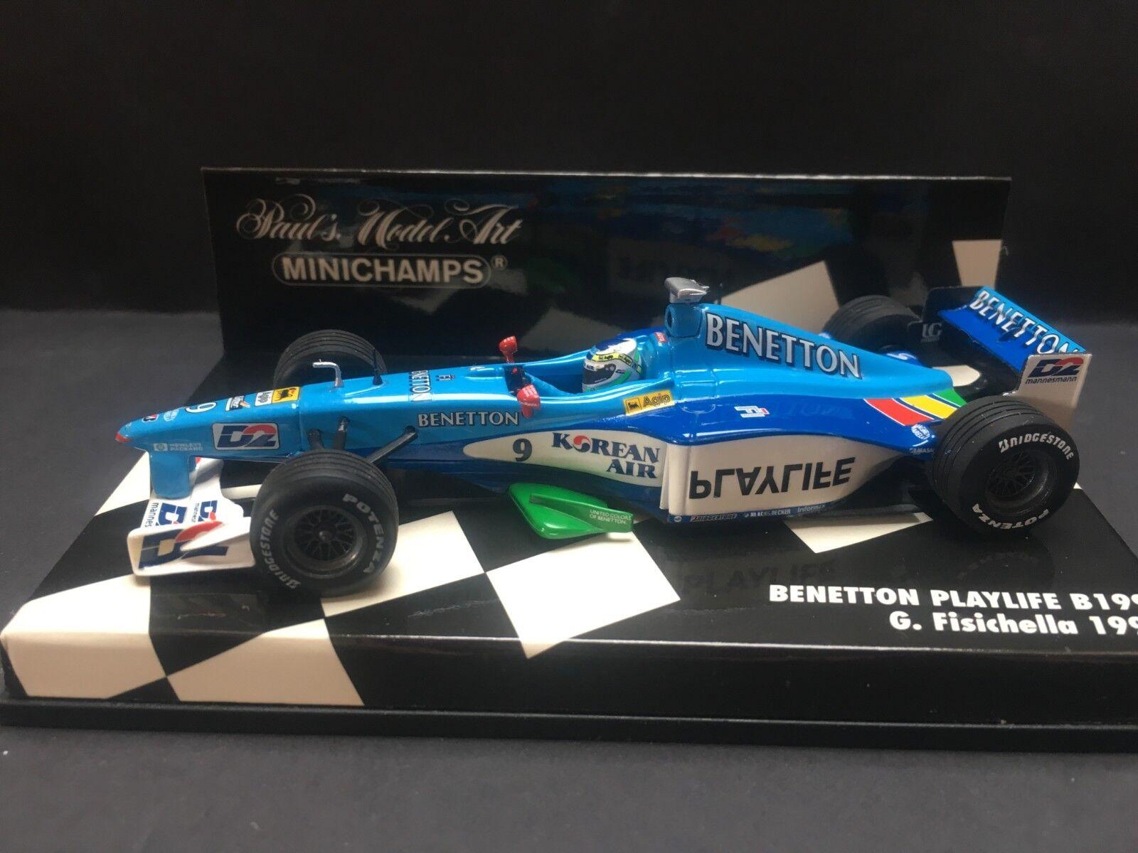 Minichamps - Giancarlo Fisichella - Benetton - B199 -  1 43 - 1999