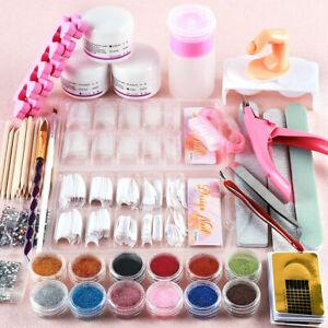 New-Acrylic-Powder-Glitter-Nail-Brush-False-Finger-Pump-Nail-Art-Tools-Kit-Set