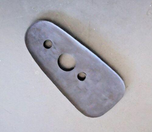 Porsche 911 72-76 Rectangular Chrome Exterior Door Mirror Base Gasket Seal-New