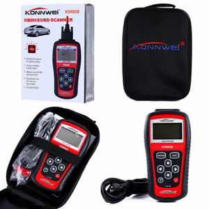 US SHIP Konnwei  KW808 OBD2 OBDII EOBD Scanner Car Code Reader Tester Diagnostic