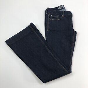 Express-Stella-Flare-Jeans-Size-2-Regular-Fit-Dark-Wash-Low-Rise-Women-s