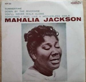 1960-MAHALIA-JACKSON-SUMMERTIME-7-034-EP-AUSSIE-CORONET-K4P-223-EX