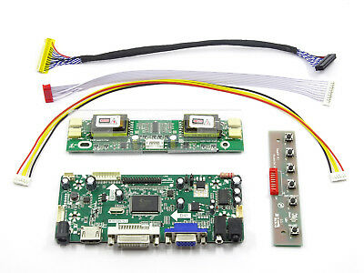LCD Converter Board Kit Inverter Driver for Panel LTM240CT04 HDMI+DVI+VGA