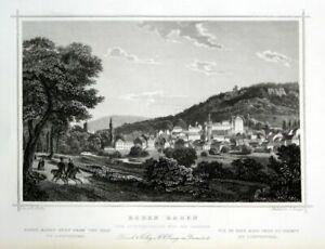 1850-Baden-Baden-Wurttemberg-Karlsruhe-Gravure-Steel-Stitch-latch-hofle