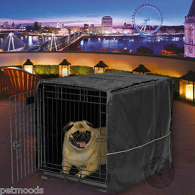 """Dog Crate Pet Cage Kennel COVER ONLY Black MidWest Quiet Time Cover 24"""" Small"""