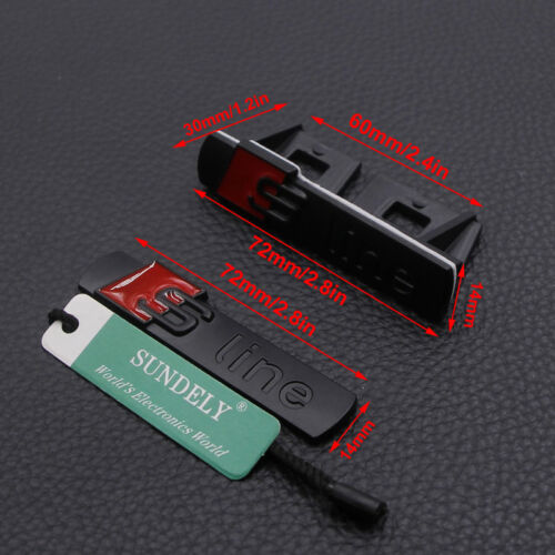 4pcs 3D Black S line GriIll Sport Emblem Badge Body Decals For Audi S4 TT R8 RS