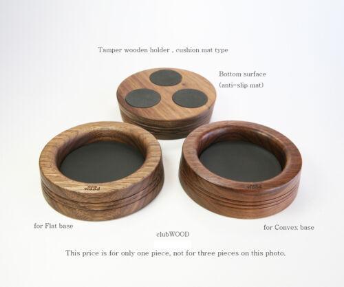 Espresso machine accessory Tamper premium wooden holder stand clubWOOD