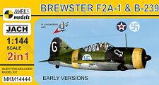 Mark I Models 1/144 Brewster F2A-1 Buffalo / B-239 Early Versions (2in1)