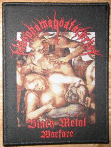 Blasphamagoatachrist Black Metal Warfare Patch Blasphemy Goatpenis Antichrist