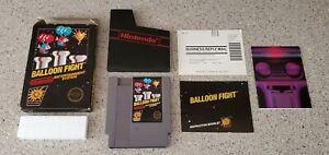 Balloon Fight Nintendo NES 5 Screw Hang Tab BLACK BOX Complete CIB Manual Lot!!!