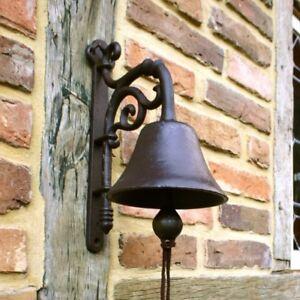 Cloche historique de jardin apart sur porte d 39 entr e comme antique grand son ebay for Cloche de porte d entree