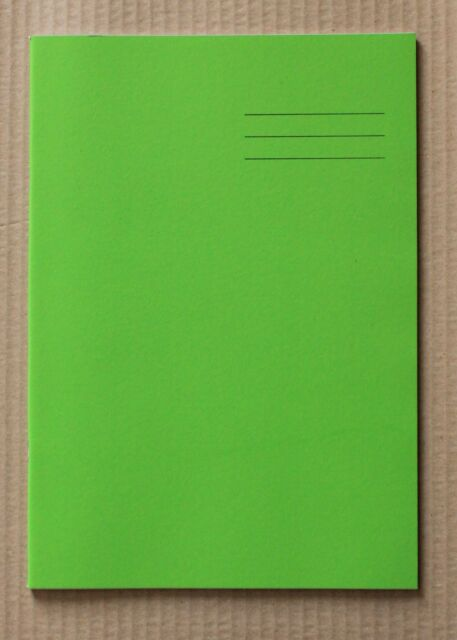 64 Page A4 Green Exercise Book Alternate Pages 2mm Graph and 8mm Ruled