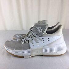 wholesale dealer 0260f 2df1a Adidas Men s Dame 3 12.5 Damian Lillard White Basketball Shoes Rip city  Bounce