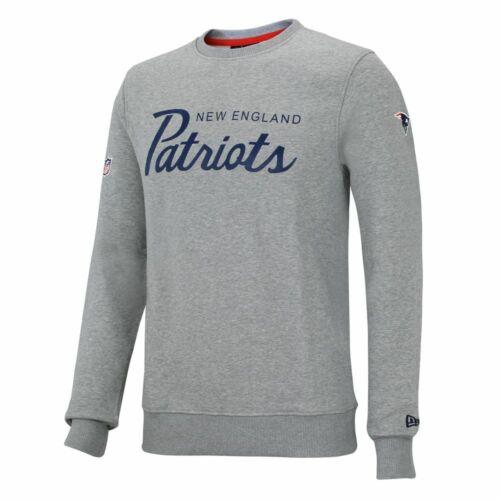 New Era NFL NEW ENGLAND PATRIOTS Team Crew Gray Sweatshirt NEU//OVP