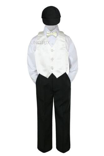 23 Color 5 pc Set Vest Bow Tie Boy Baby Toddler Formal Suit Black Hat Pants S-7