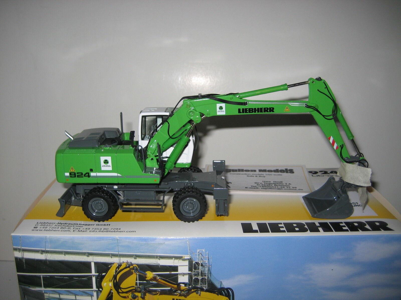 Liebherr a 924 excavator pelle arbogast  780 nzg 1 50 original packaging