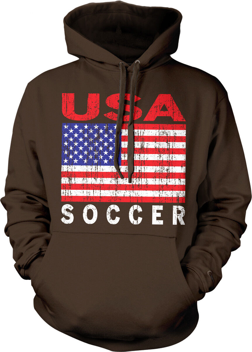 USA Soccer Distressed Flag colors United States From US Born Hoodie Sweatshirt