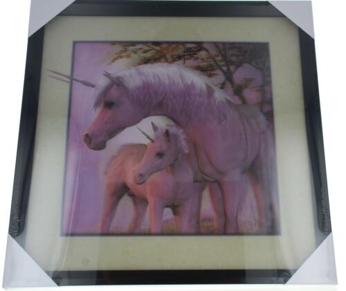 Black Framed 5D Unicorn Picture 40x40cm High Quality Hanging Decoration Home