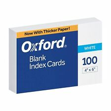 Oxford 40 4 X 6 Blank Index Cards White 100pack 1 Pack