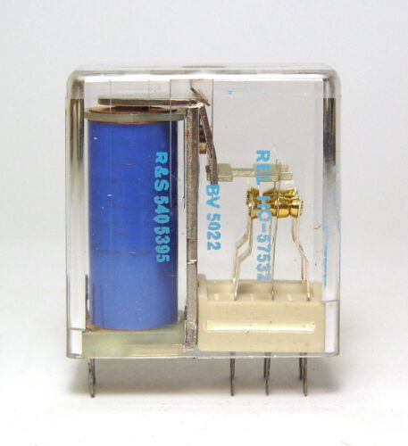 2x UM vergoldete Kontakte! Stereo Haller Relais Rohde /& Schwarz 540 5395