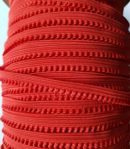 Red Elastic Trim Picot Seven MM Width Make Your Own Face Mask