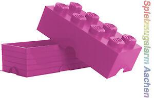 LEGO Storage Brick 8 PINK Stein 2x4 Aufbewahrung Dose XXL Box Kiste