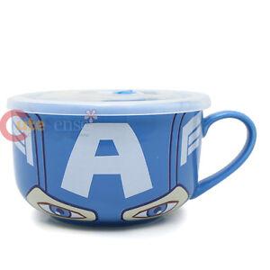 Marvel Heroes Iron Man Ceramic Mug Soup Bowl with Lid