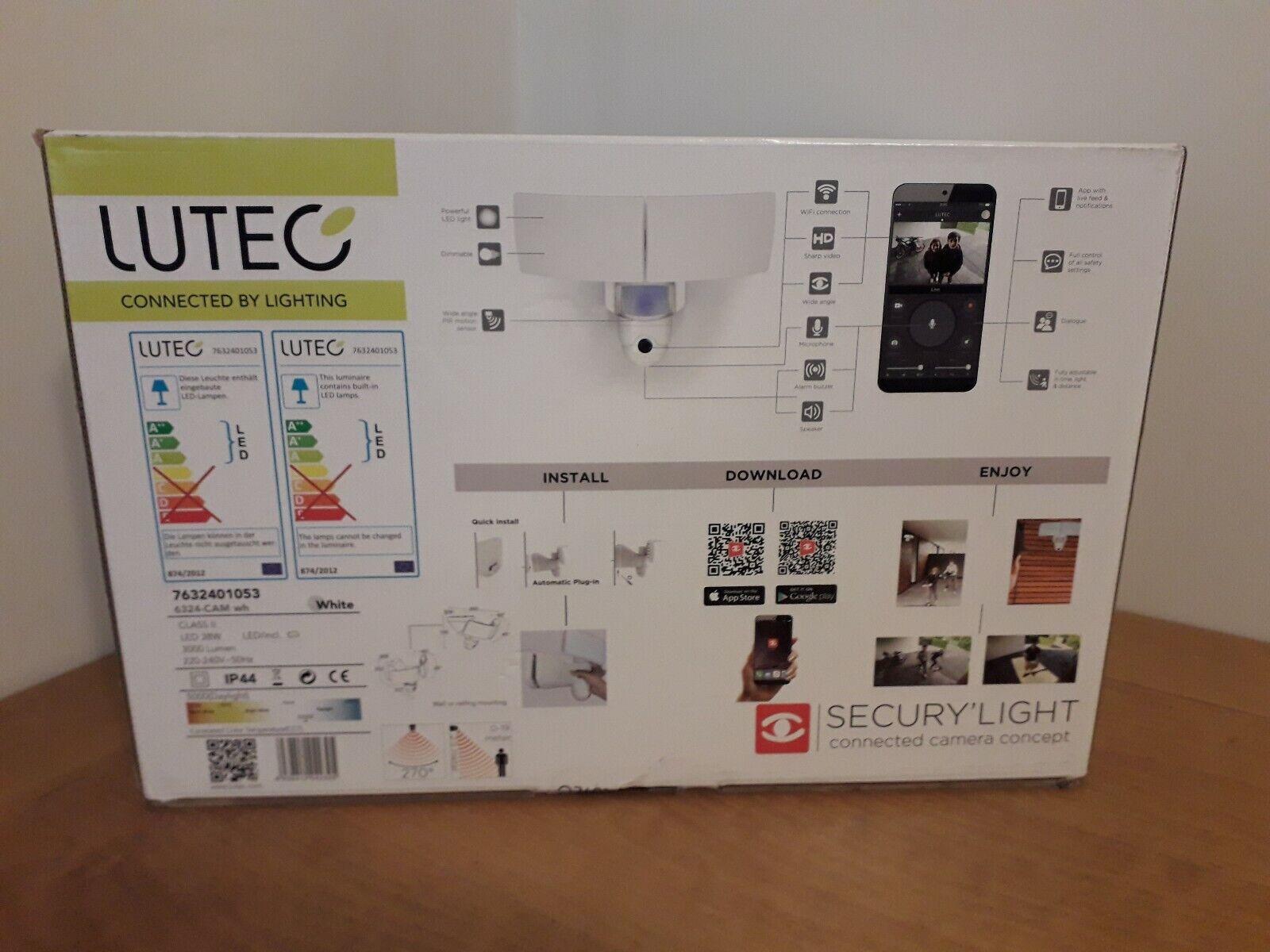 Luz De Seguridad Con Wi-fi Cámara HD, LUTEC libra