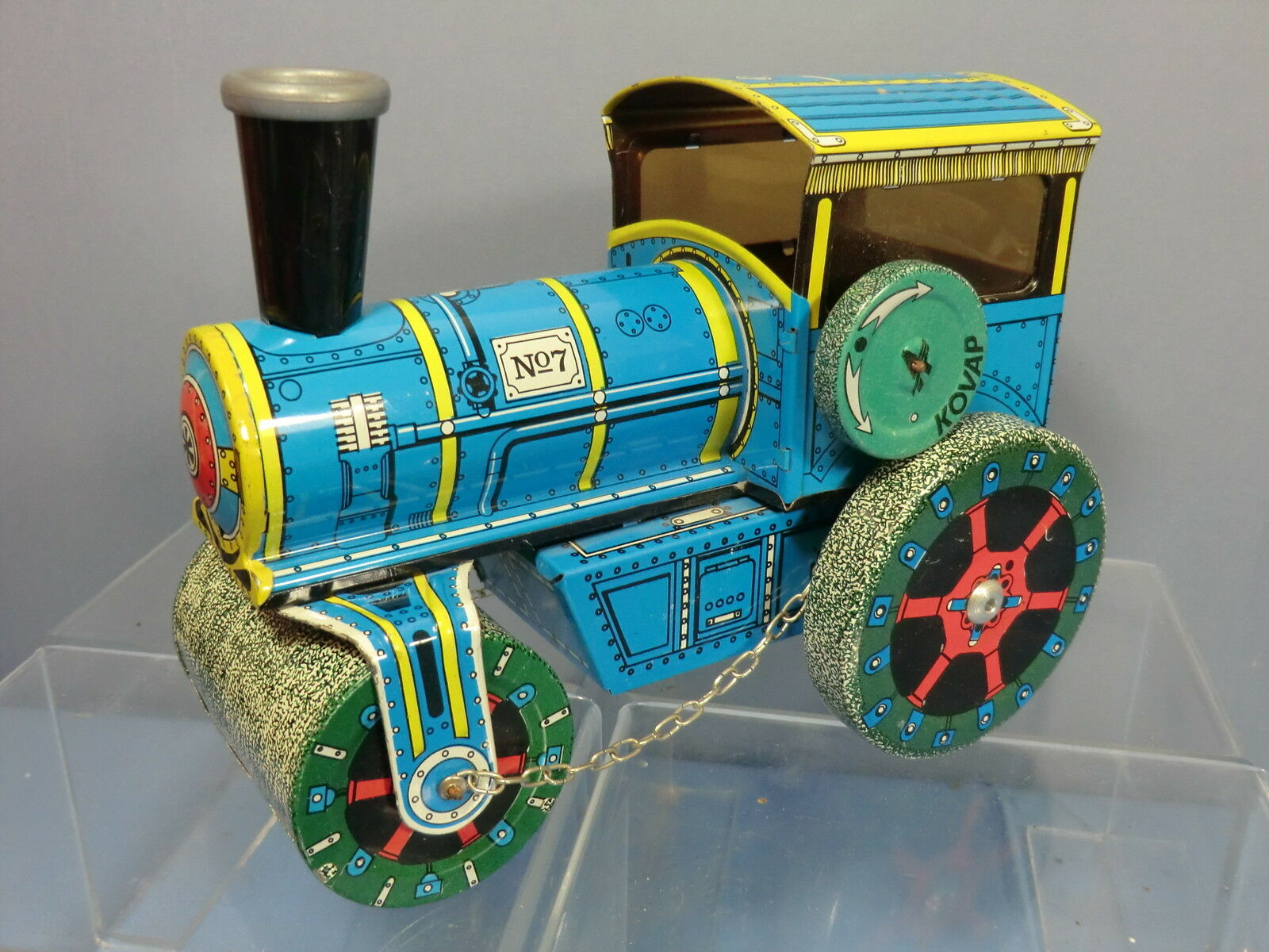 ELZER MUVER   PUSH - ALONG   No 7.   STEAM ROAD ROLLER    TINPLATE