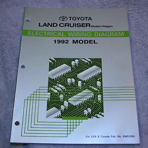 1992 toyota land cruiser electrical wiring diagram service repair rh ebay com