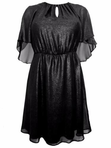 EVANS BLACK SHIMMER PARTY EVENING DRESS PLUS SIZE 14 16  20 24 NEW EX