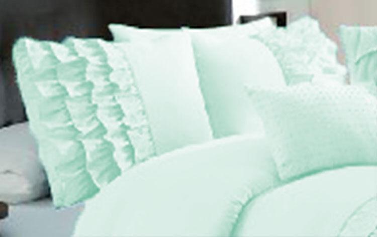 1 Pair Half Ruffle Pillow Shams 600TC Egyptian Cotton All Size & color
