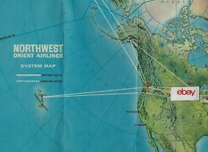 Details about NORTHWEST ORIENT AIRLINES DOMESTIC & INTERNATIONAL ROUTE on northwest cargo, northwest area map, northwest weather map, northwest parkway map, northwest boulevard map,
