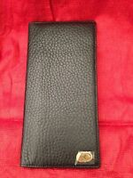 Vintage Men's Paolo Scali Black Pebble Leather Wallet Credit Card Checkbook