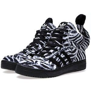 huge discount 5d5d7 ef454 La foto se está cargando Nuevo-Adidas-ObyO-Jeremy-Scott-Zebra-G95749-Tiger-