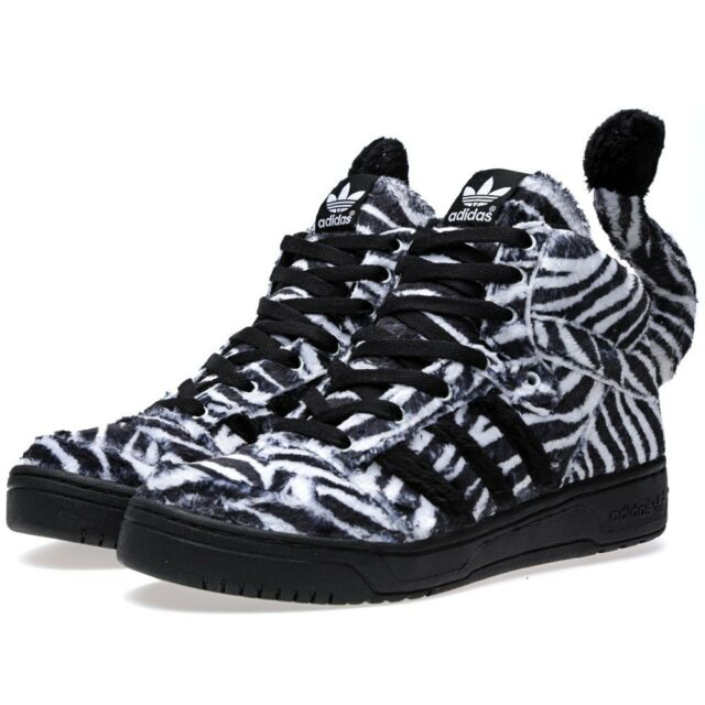 baaa3a529 NEW Adidas ObyO x Jeremy Scott Zebra G95749 tiger black white mens shoe 10