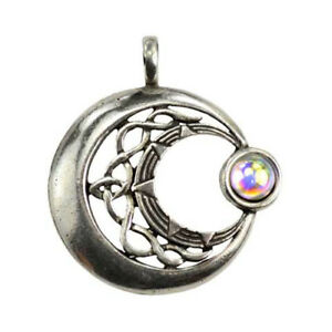 Venus rising moon celestial amulet celtic knots wicca pagan necklace image is loading venus rising moon celestial amulet celtic knots wicca aloadofball Image collections