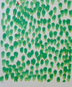 DONALD-SULTAN-from-the-039-Wall-Flowers-039-Suite-HAND-SIGNED-NUMBERED-SERIGRAPH